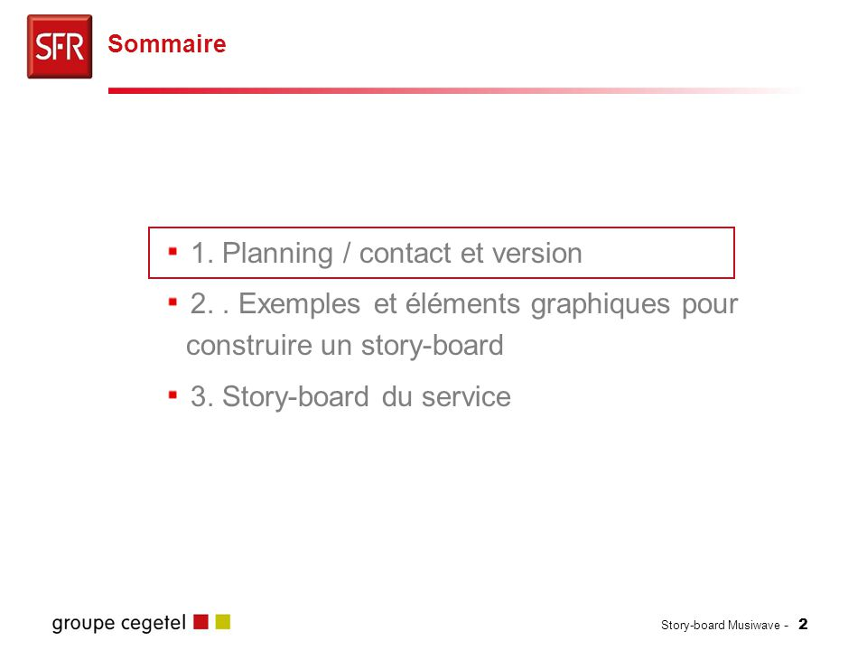 Story-board Musiwave - 13 Pages de dialogue d'achat ou d'abonnement Clickthrough Vodafone Live.