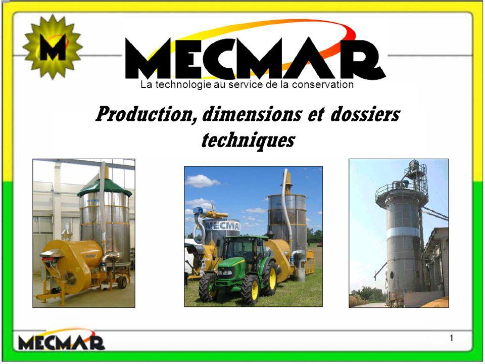 La technologie au service de la conservation Production, dimensions et dossiers techniques