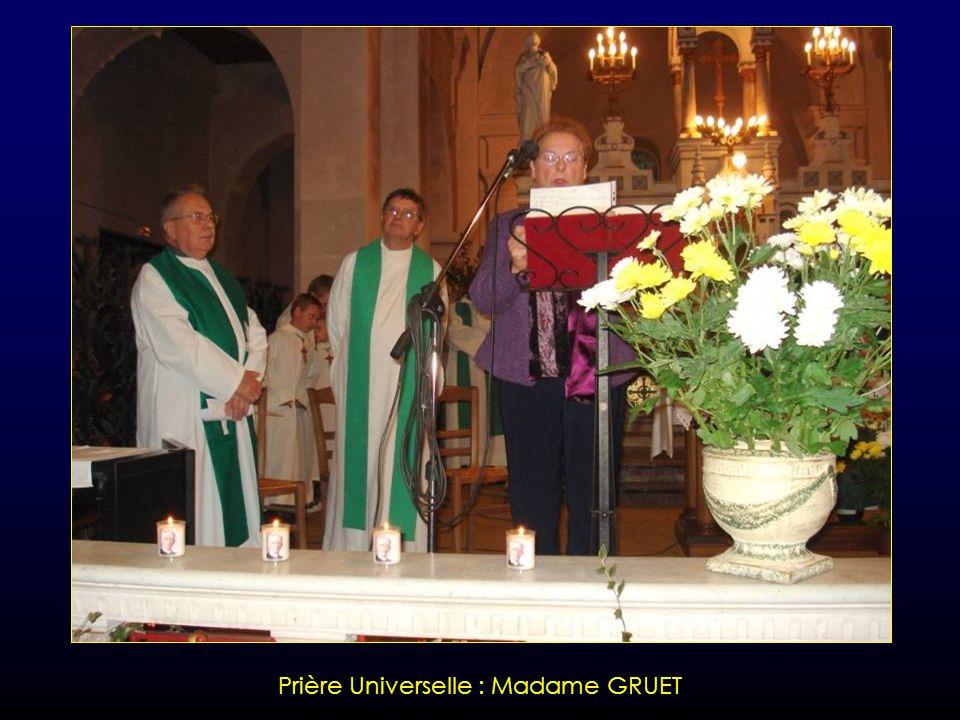 Prière Universelle : Monsieur COUSIN