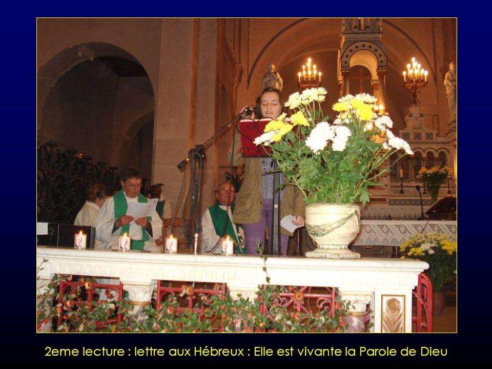 2eme lecture : lettre aux Hébreux : Elle est vivante la Parole de Dieu