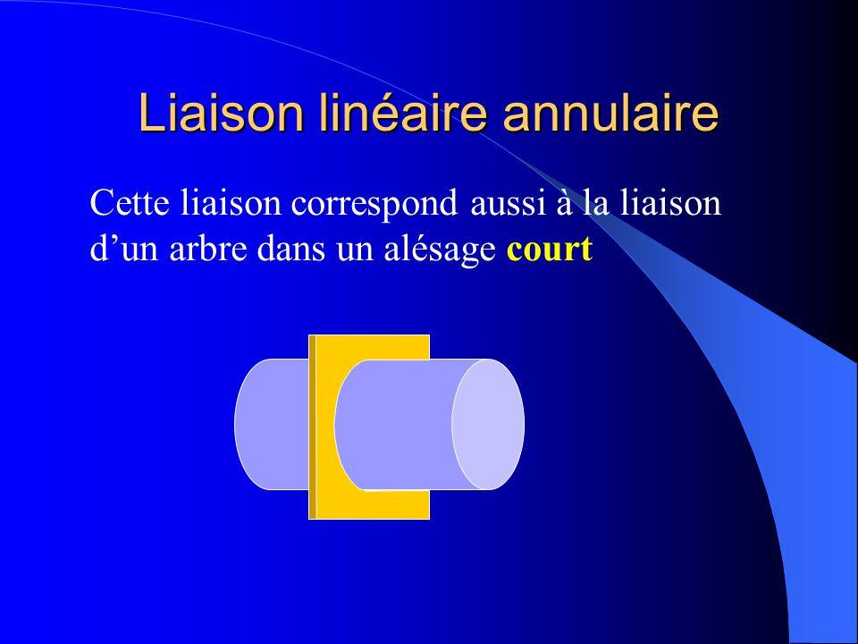Liaison linéaire annulaire 1 2 x y z La liaison linéaire annulaire supprime 2 degrés de liberté : T.xT.yT.z R.xR.yR.z - Deux translations
