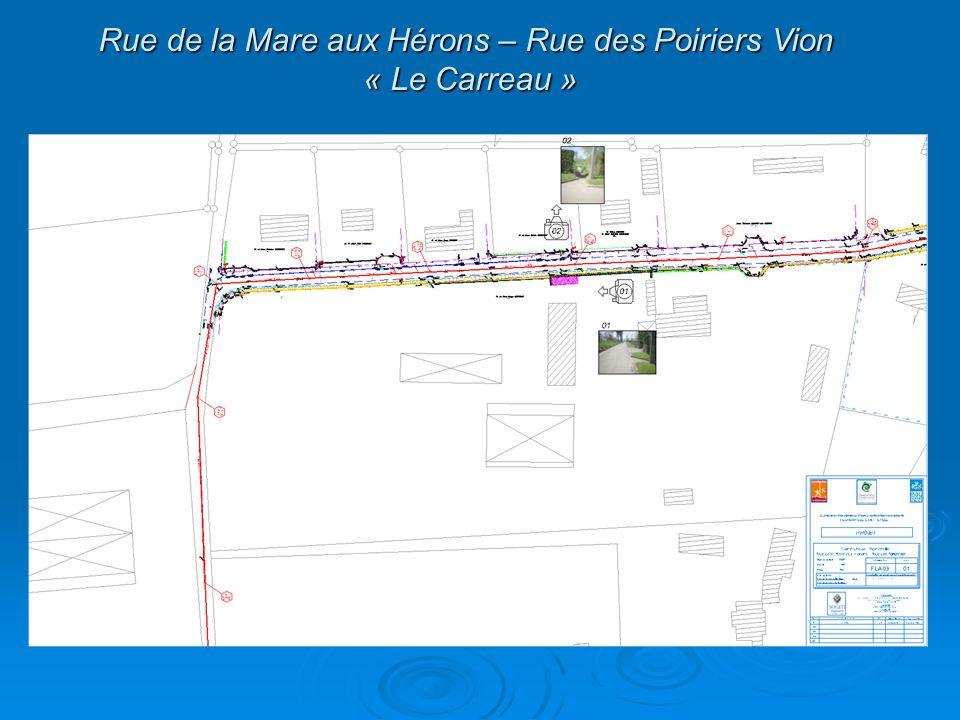 Rue de la Mare aux Hérons – Rue des Poiriers Vion « Le Carreau »