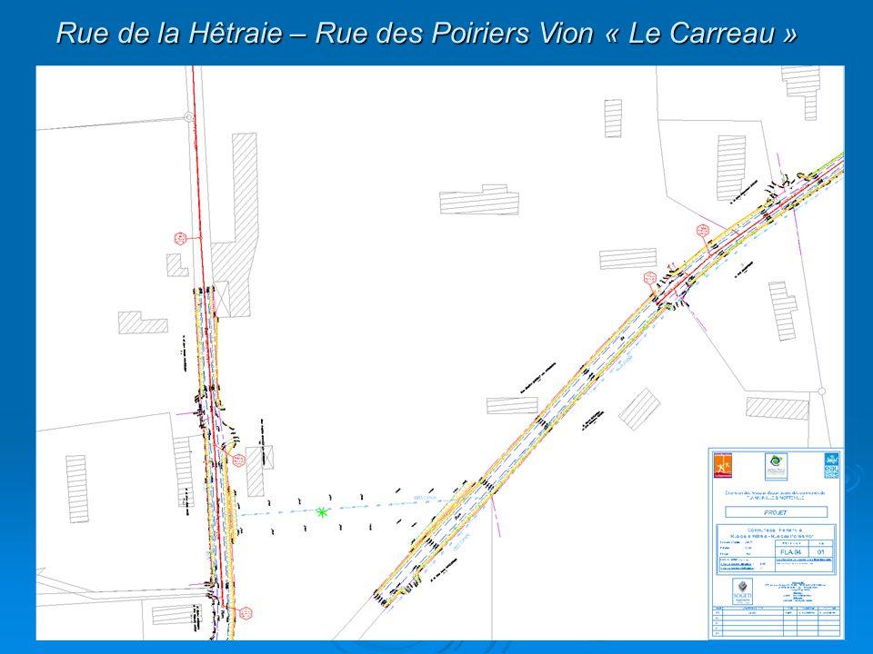Rue de la Hêtraie – Rue des Poiriers Vion « Le Carreau »