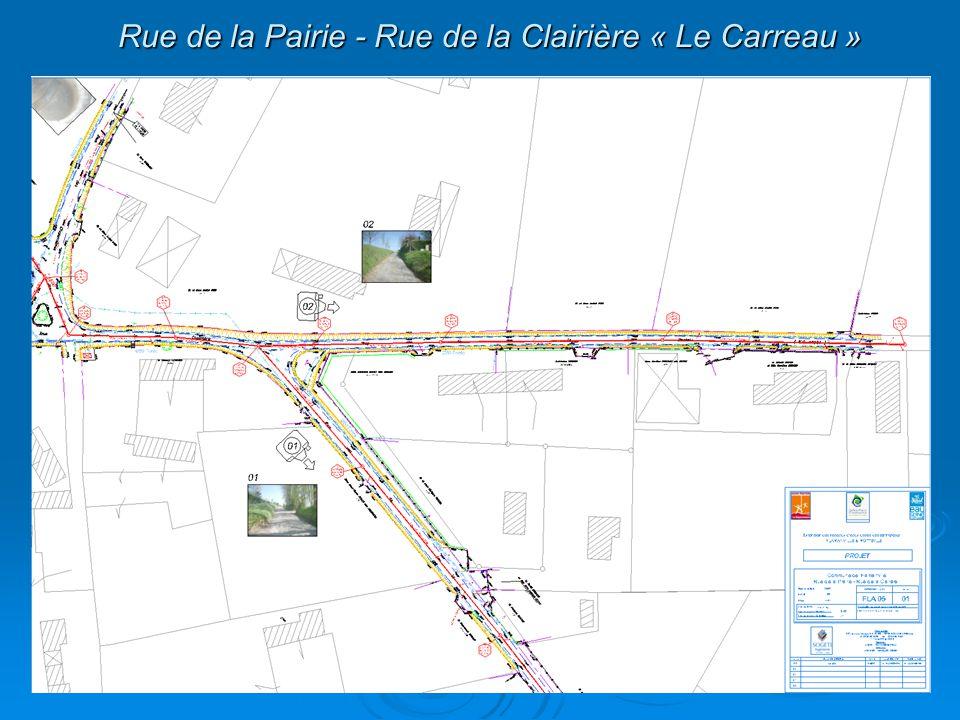 Rue de la Pairie - Rue de la Clairière « Le Carreau »