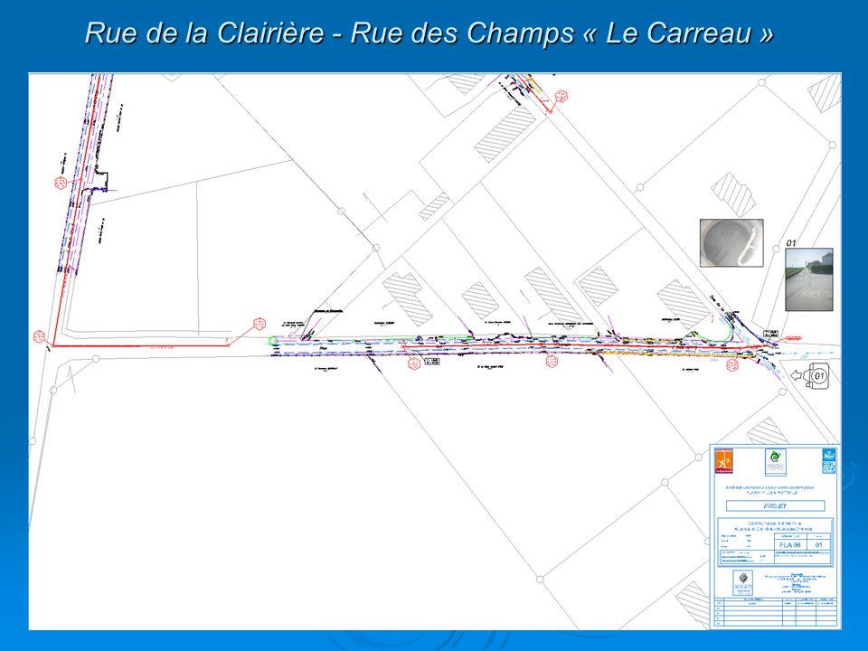 Rue de la Clairière - Rue des Champs « Le Carreau »