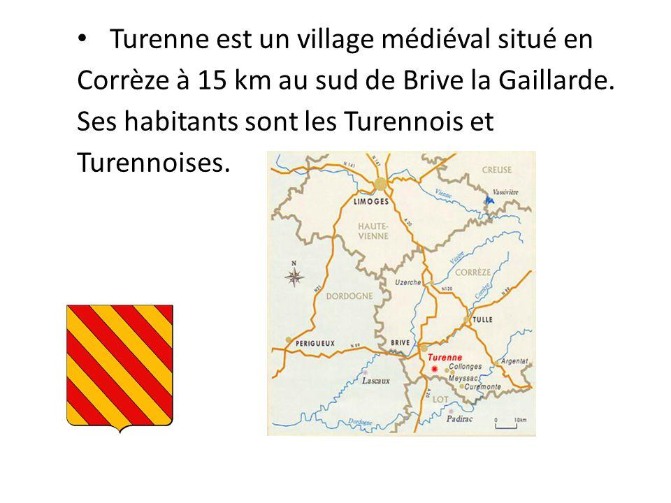 Au sommet de la butte on trouve les vestiges du château de Turenne, le village quant à lui descend le long de la colline, il est classé « plus beau village de France »