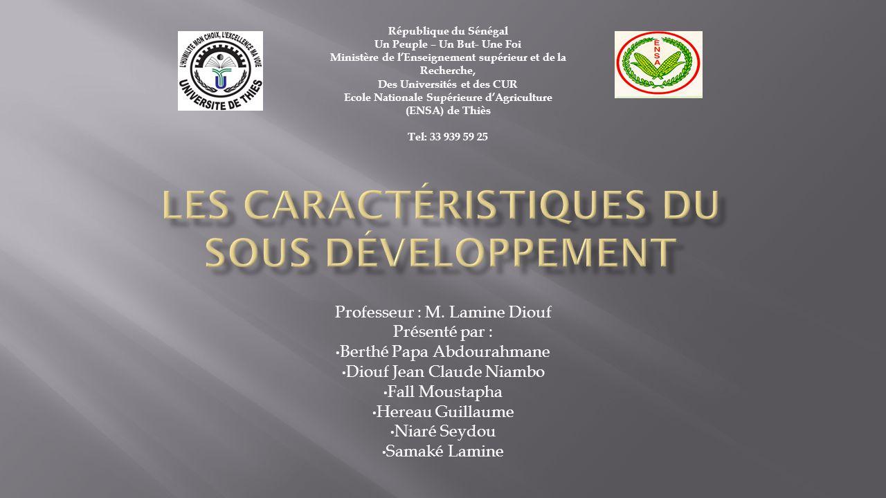  Introduction  La mesure des inégalités de développement 1.1.