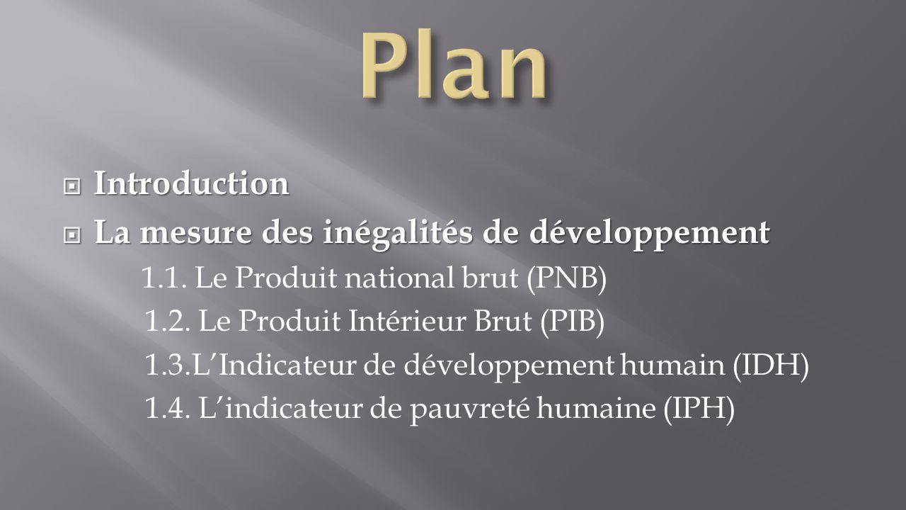  Caractéristiques du sous développement 2-1- Les causes du sous développement 2-2- Echelles des inégalités de développement Les disparités à l'intérieur des ensembles La force des inégalités régionales et locales  Conclusion