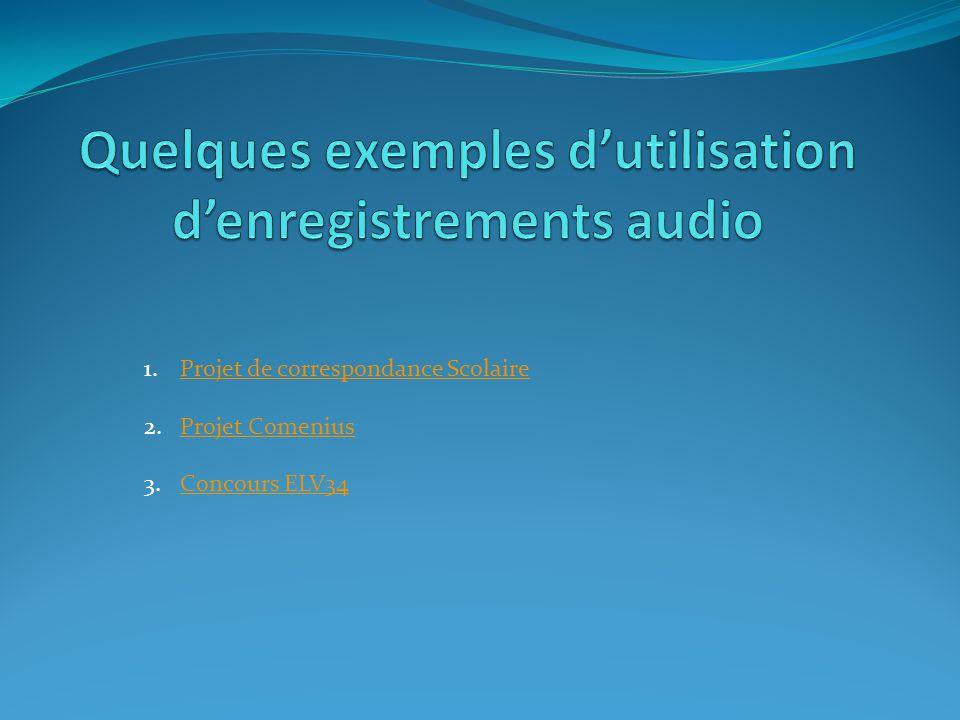 1.Connaître les différents formats audio et savoir les convertir 2.Savoir numériser une voix à l'aide d'un appareil 3.Savoir gérer ses enregistrements audio (transfert, conversion, traitement (amélioration, montage), insertion) 4.Savoir récupérer un enregistrement audio à partir d'Internet 5.Savoir récupérer un enregistrement audio à partir d'un CD 6.Savoir utiliser et gérer des podcasts