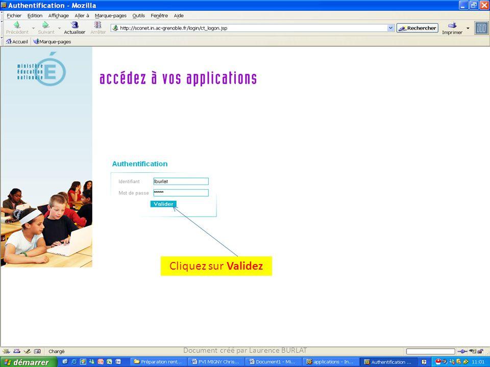 Dans Application ASSED, choisissez Accès Application Document créé par Laurence BURLAT