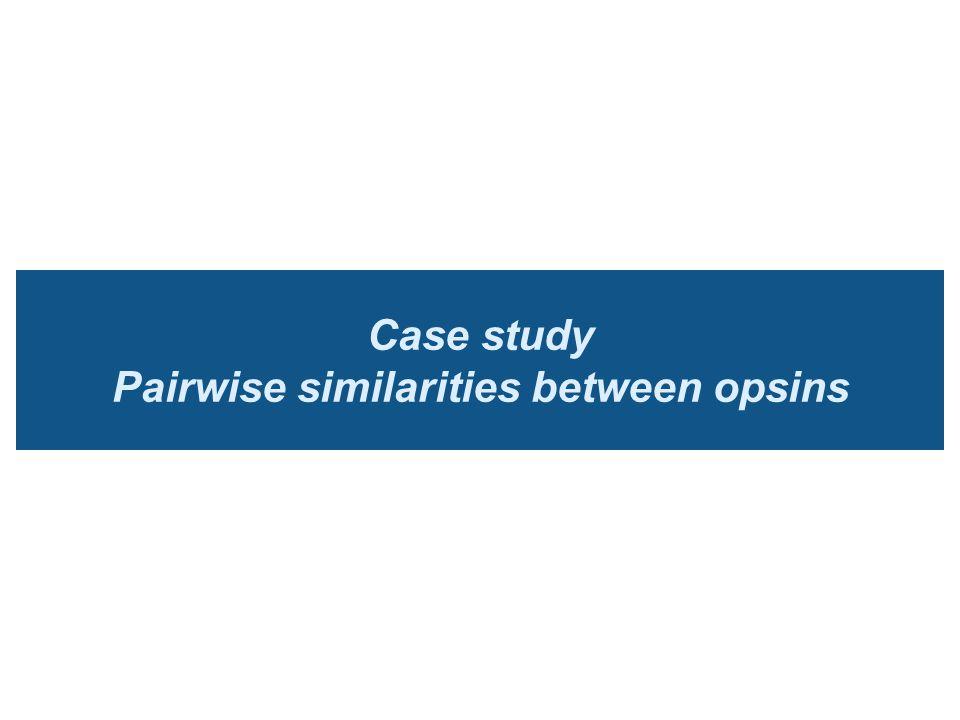 Case study Pairwise similarities between opsins
