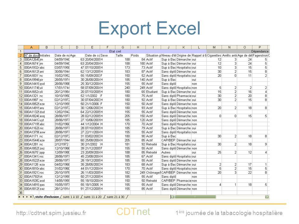 Export Excel