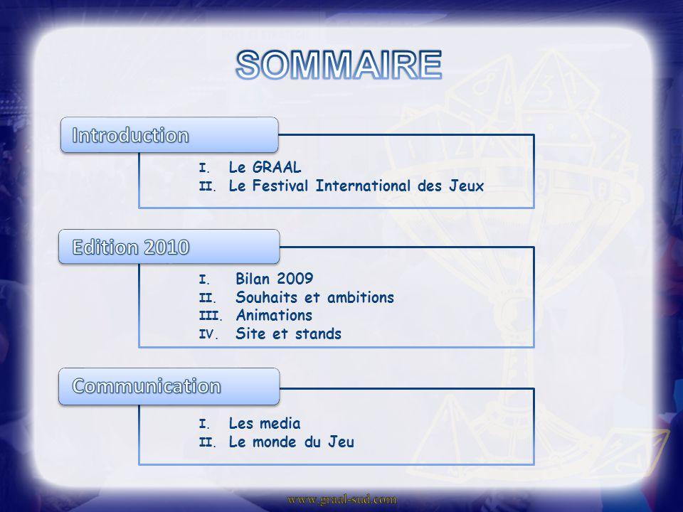 I.Le GRAAL II. Le Festival International des Jeux I.