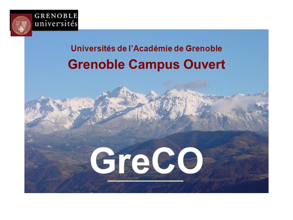 Universités de l'Académie de Grenoble Grenoble Campus Ouvert GreCO