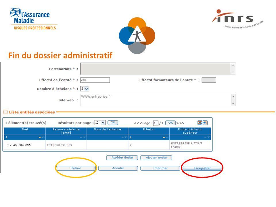 Fin du dossier administratif 12345678900010