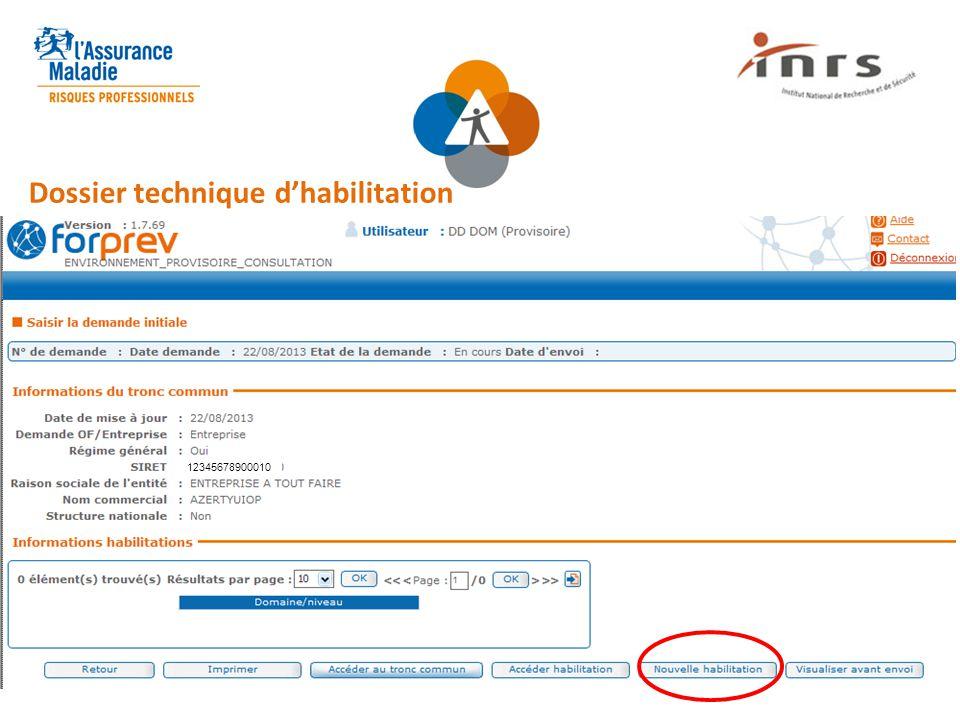 Dossier technique d'habilitation 12345678900010