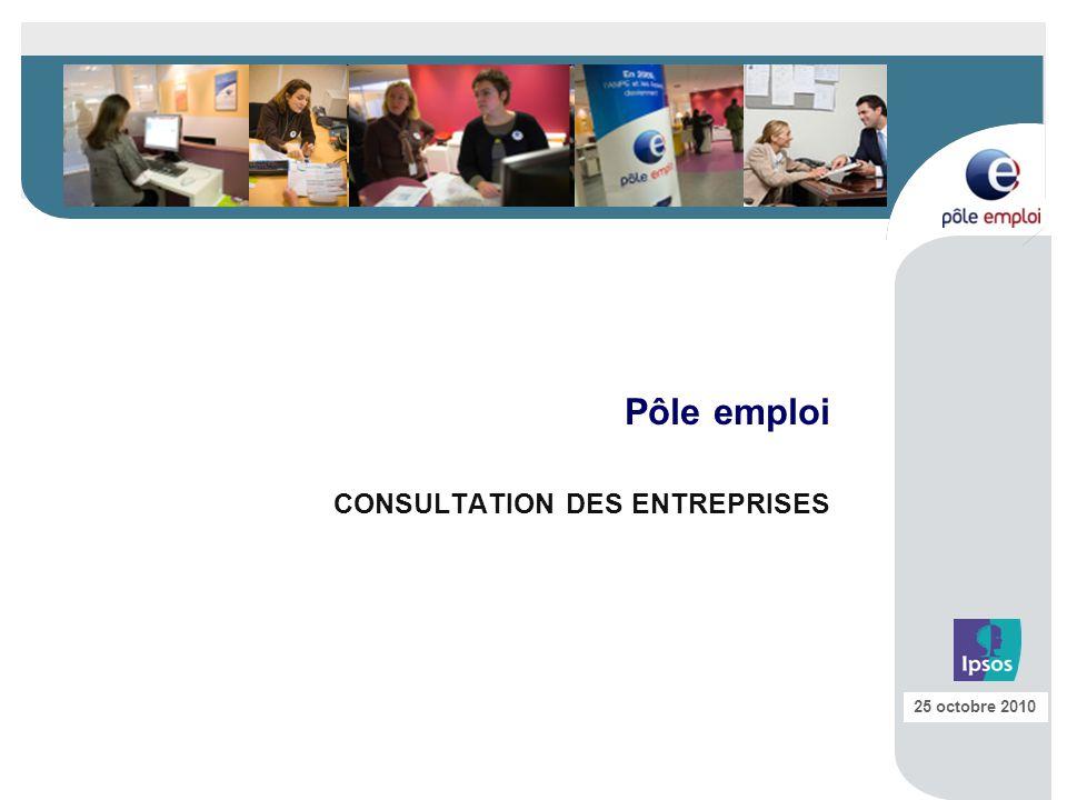 Pôle emploi CONSULTATION DES ENTREPRISES 25 octobre 2010