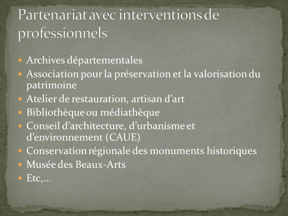 Archives départementales Association pour la préservation et la valorisation du patrimoine Atelier de restauration, artisan d'art Bibliothèque ou médi