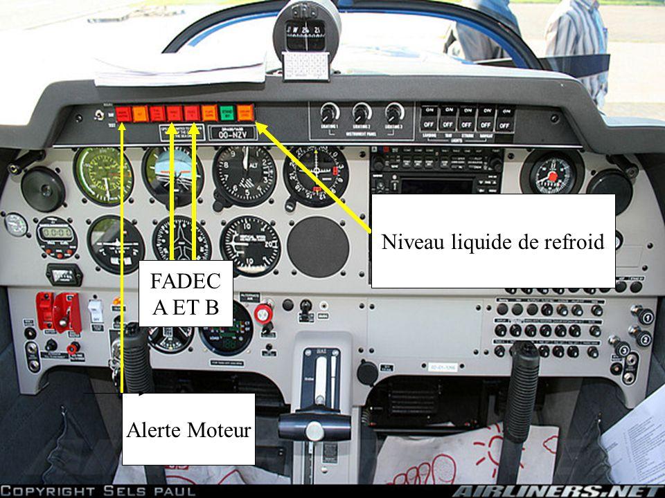BATTERIE CONTACT MOTEUR ( FADEC ) Full Authority Digital Engine Control Voyant de préchauffage