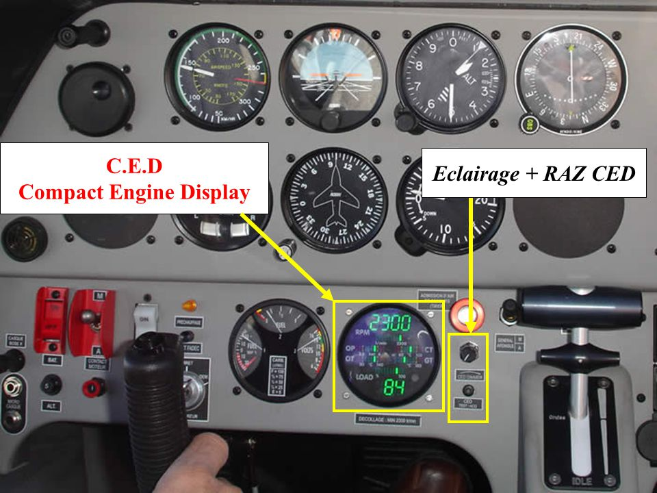 C.E.D Compact Engine Display Eclairage + RAZ CED