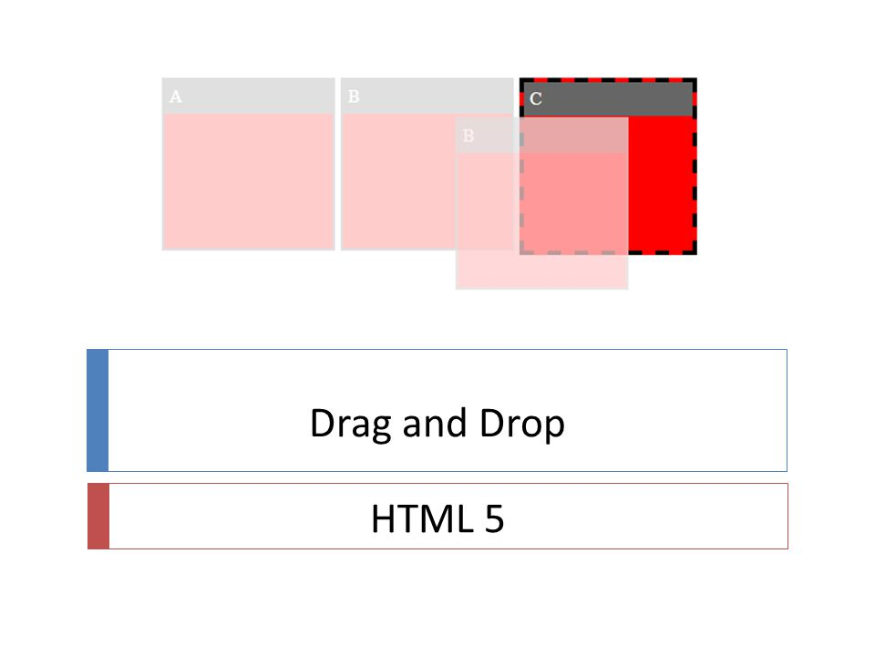 Drag and Drop HTML 5