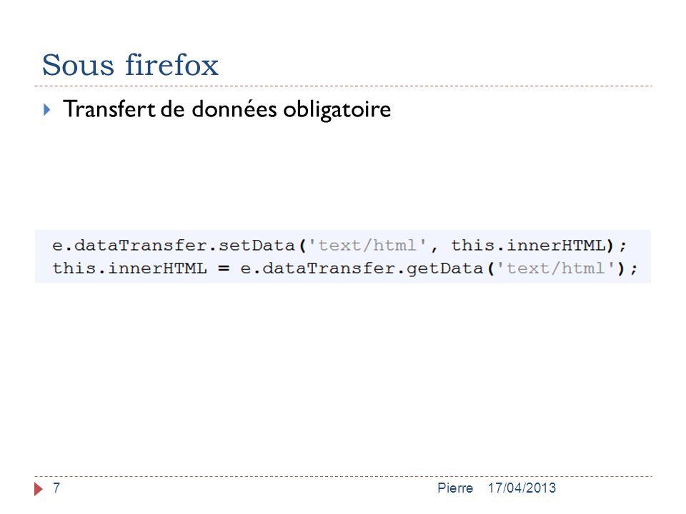 Sous firefox 17/04/2013Pierre7  Transfert de données obligatoire