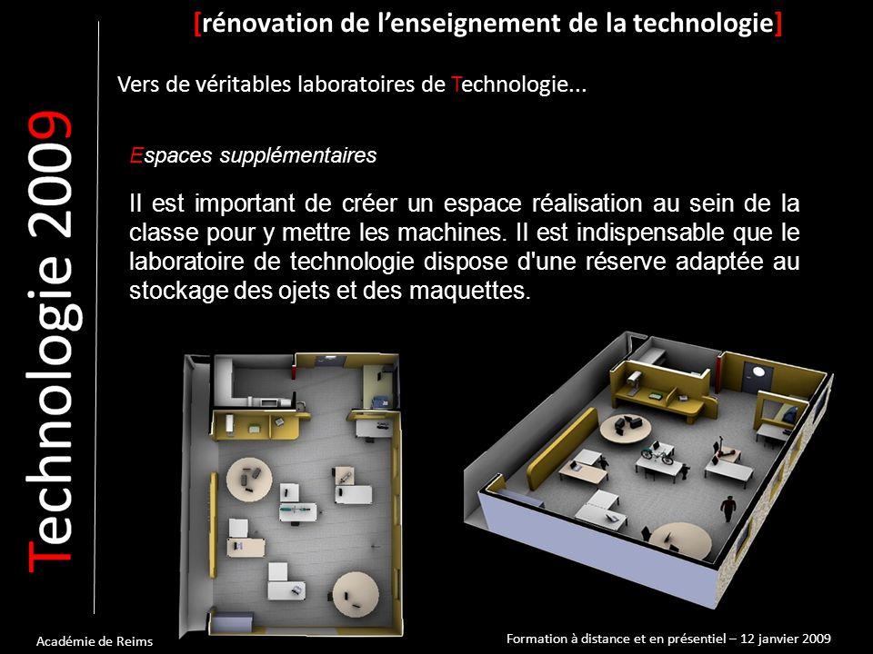 Académie de Reims Exemples [rénovation de l'enseignement de la technologie] Vers de véritables laboratoires de Technologie...