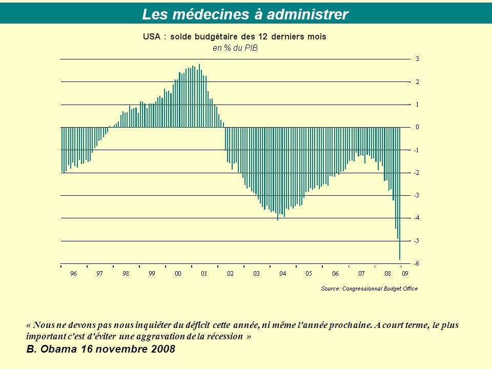 « Nous ne devons pas nous inquiéter du déficit cette année, ni même l'année prochaine. A court terme, le plus important c'est d'éviter une aggravation