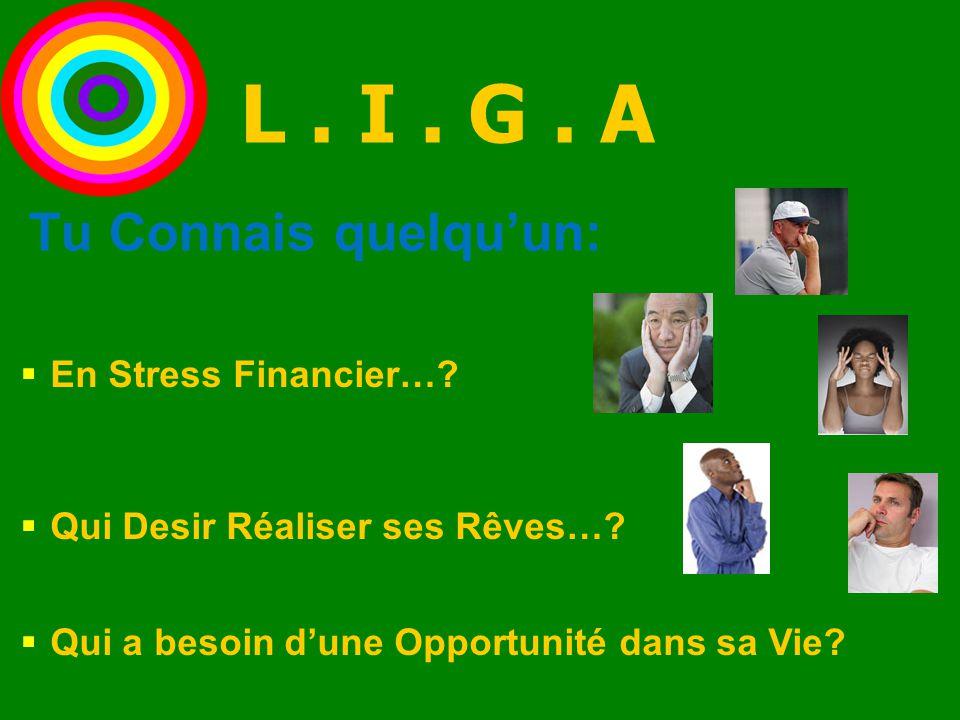  En Stress Financier…?  Qui Desir Réaliser ses Rêves…?  Qui a besoin d'une Opportunité dans sa Vie? Tu Connais quelqu'un: L. I. G. A