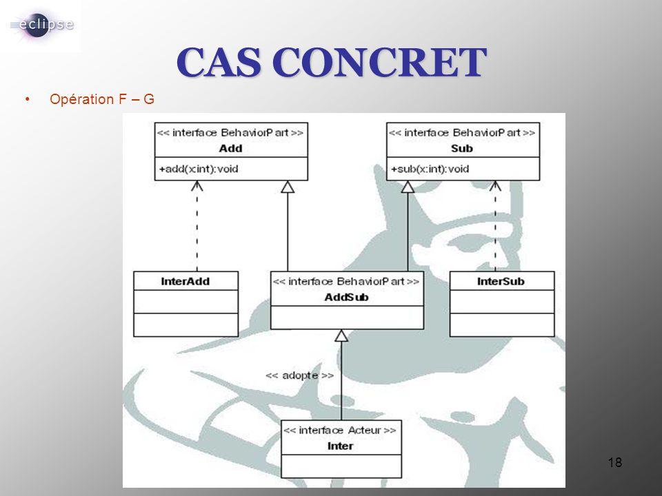 18 CAS CONCRET Opération F – G
