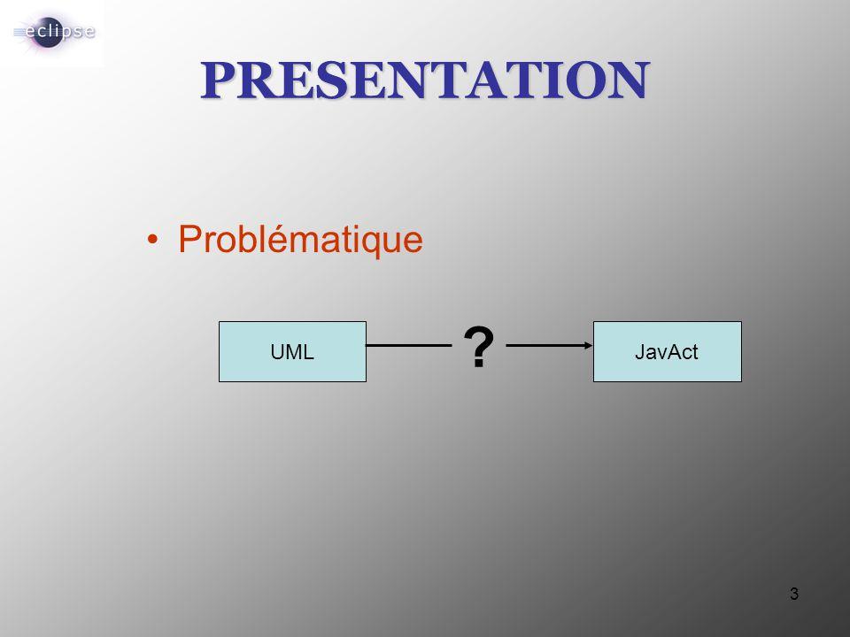3 PRESENTATION Problématique UMLJavAct ?