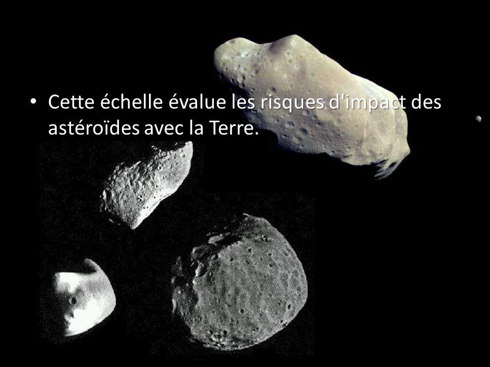 Cette échelle évalue les risques d impact des astéroïdes avec la Terre.