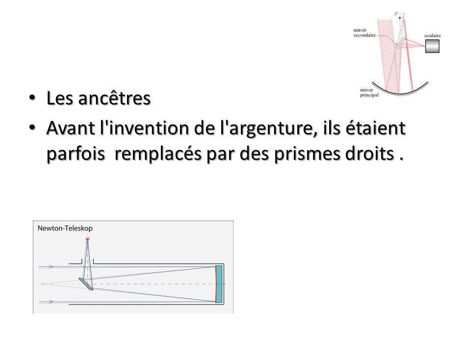 Les ancêtres Les ancêtres Avant l invention de l argenture, ils étaient parfois remplacés par des prismes droits.