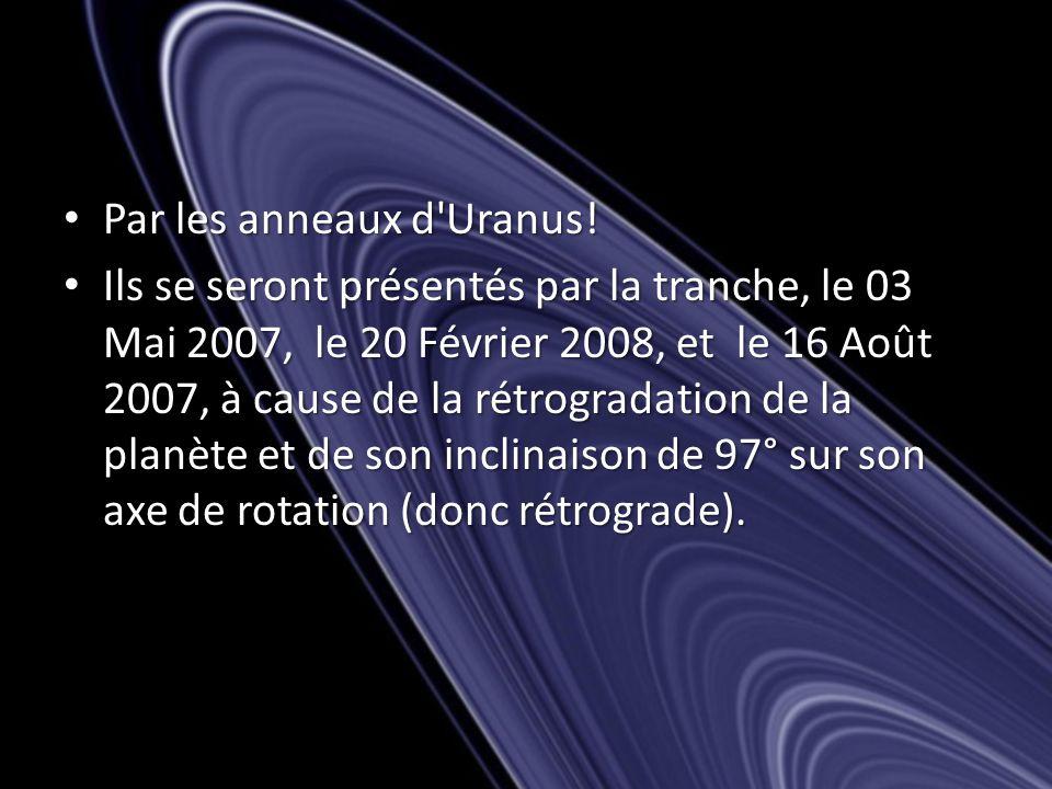 Par les anneaux d Uranus. Par les anneaux d Uranus.
