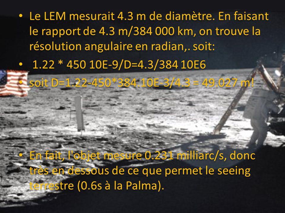 Le LEM mesurait 4.3 m de diamètre.