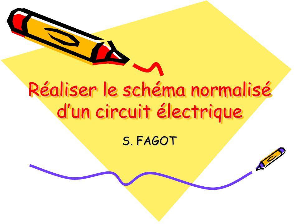 Réaliser le schéma normalisé d'un circuit électrique S. FAGOT