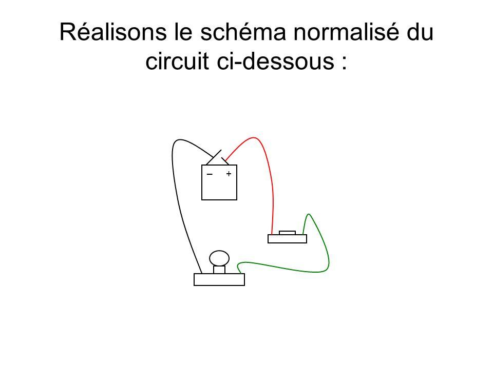 + _ Réalisons le schéma normalisé du circuit ci-dessous :