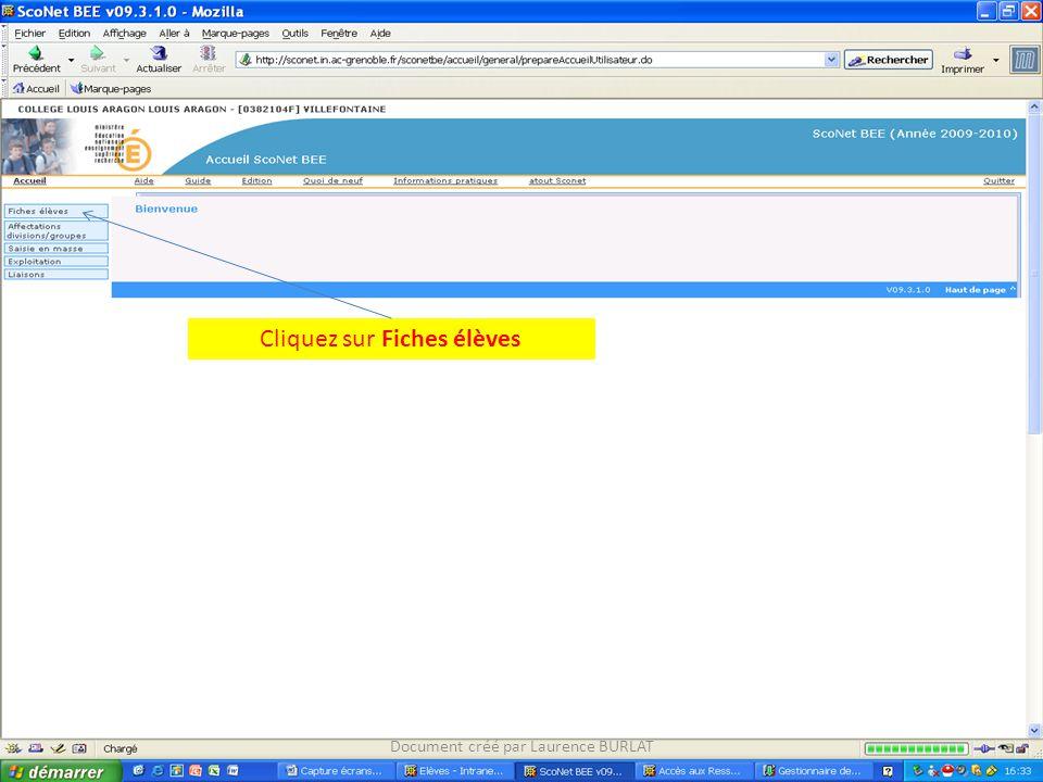 Cliquez sur Fiches individuelle Document créé par Laurence BURLAT