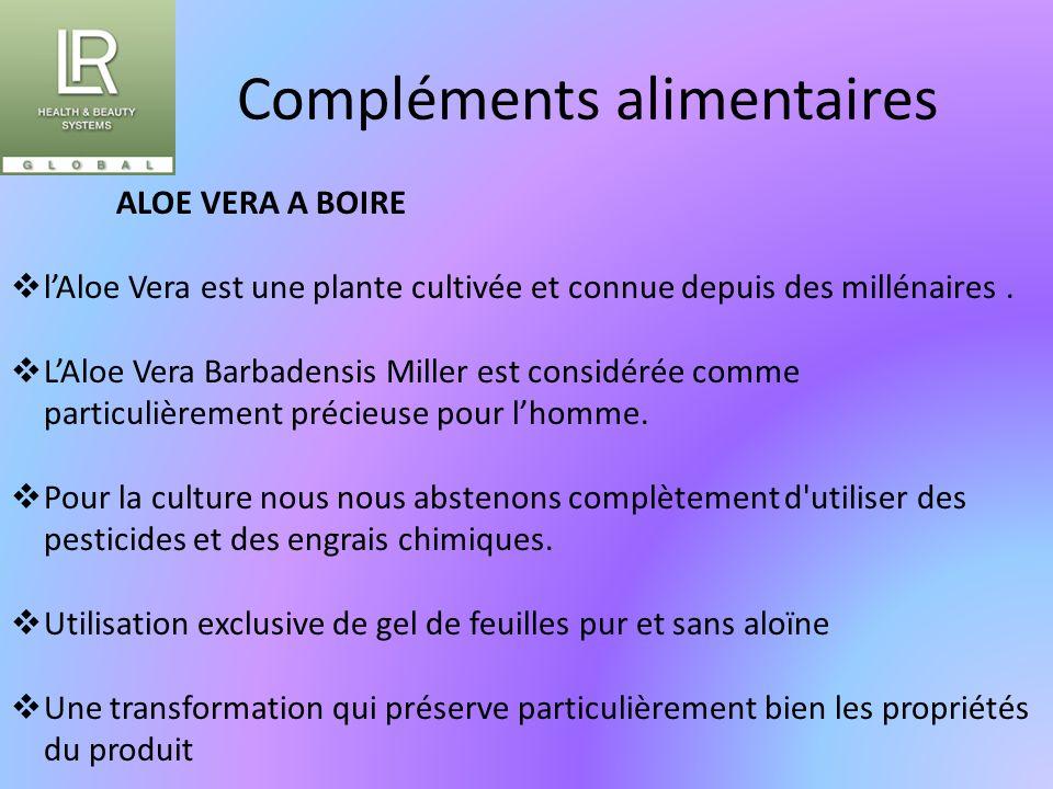Compléments alimentaires ALOE VERA A BOIRE  l'Aloe Vera est une plante cultivée et connue depuis des millénaires.  L'Aloe Vera Barbadensis Miller es