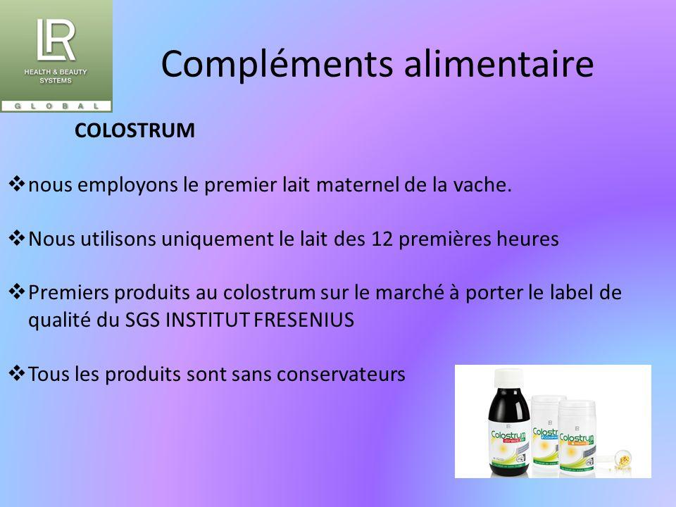 Compléments alimentaire COLOSTRUM  nous employons le premier lait maternel de la vache.  Nous utilisons uniquement le lait des 12 premières heures 