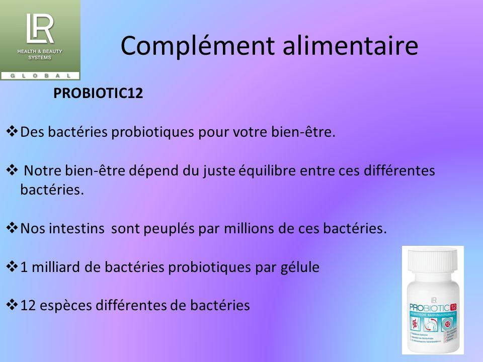 Complément alimentaire PROBIOTIC12  Des bactéries probiotiques pour votre bien-être.  Notre bien-être dépend du juste équilibre entre ces différente