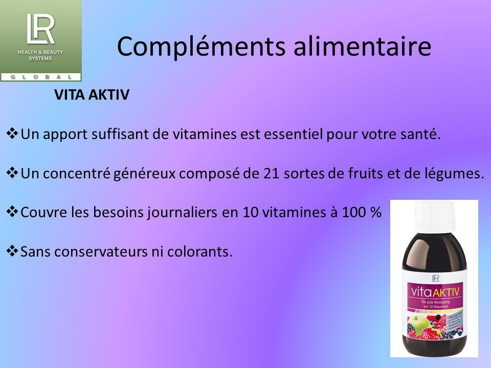 Compléments alimentaire VITA AKTIV  Un apport suffisant de vitamines est essentiel pour votre santé.  Un concentré généreux composé de 21 sortes de