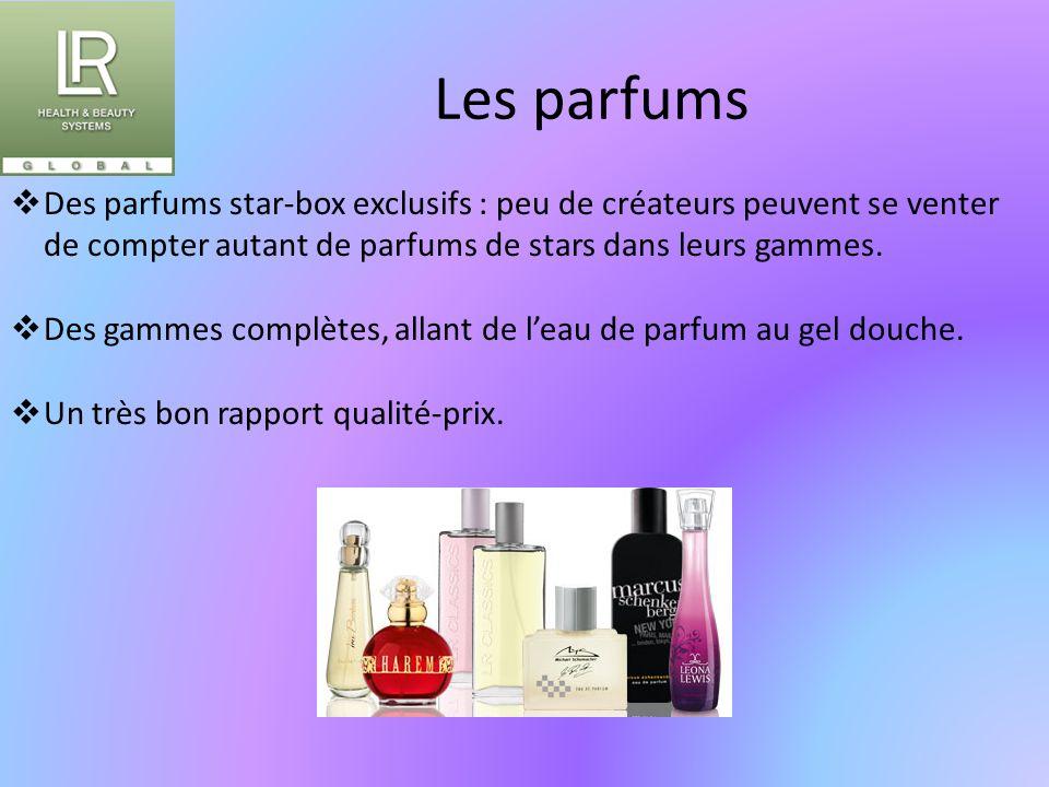 Les parfums  Des parfums star-box exclusifs : peu de créateurs peuvent se venter de compter autant de parfums de stars dans leurs gammes.  Des gamme