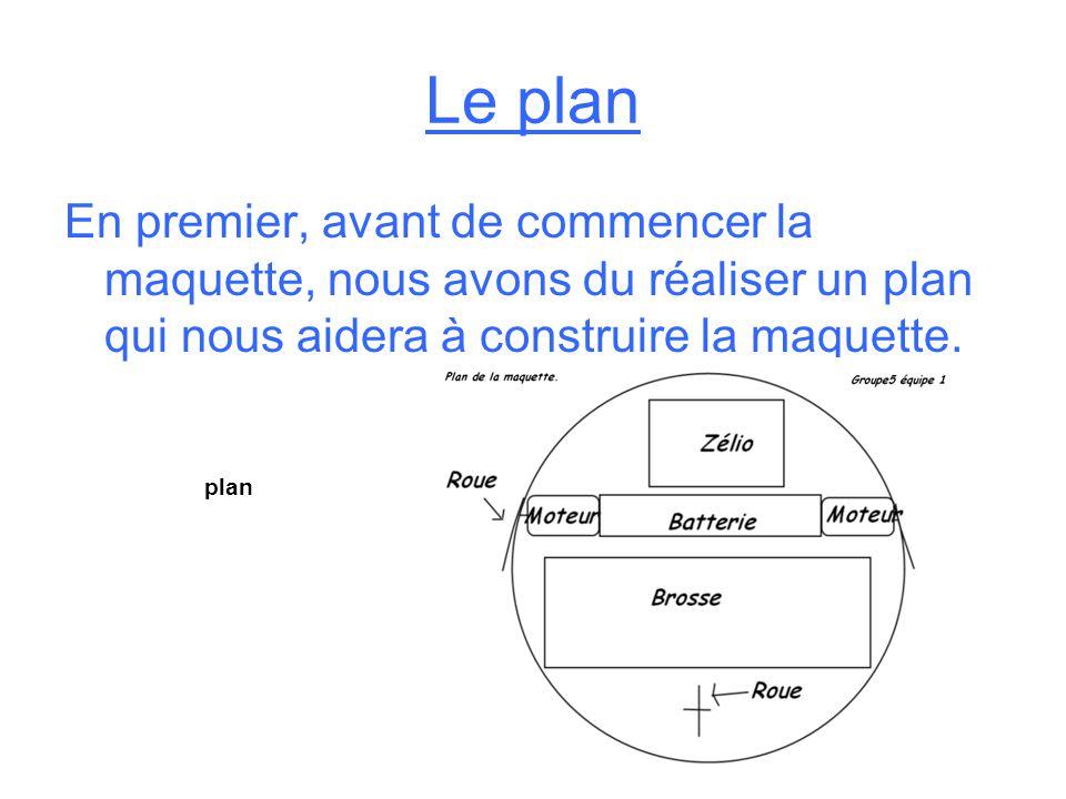 Le plan En premier, avant de commencer la maquette, nous avons du réaliser un plan qui nous aidera à construire la maquette.