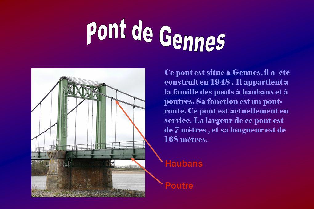 Ce pont est situé à Gennes, il a été construit en 1948.