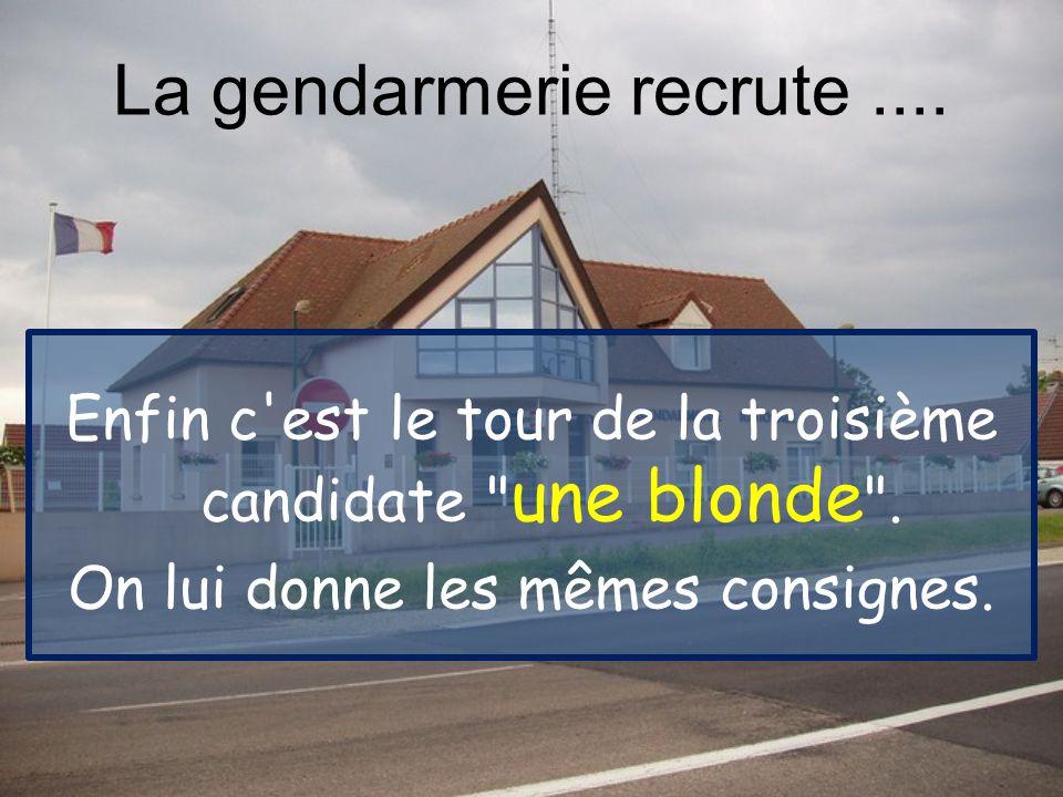 Enfin c est le tour de la troisième candidate une blonde .
