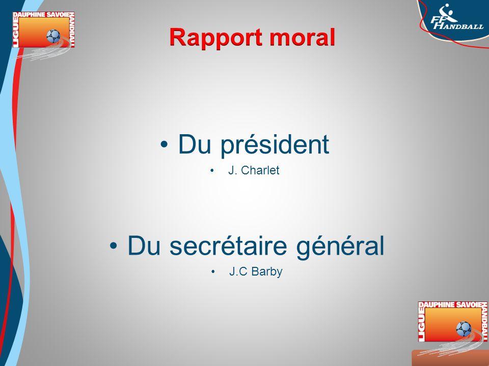 Octobre 2008 Du président J. Charlet Du secrétaire général J.C Barby