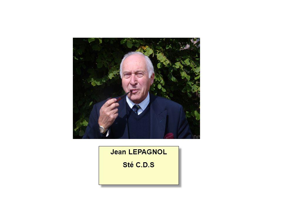 Jean LEPAGNOL Sté C.D.S Jean LEPAGNOL Sté C.D.S