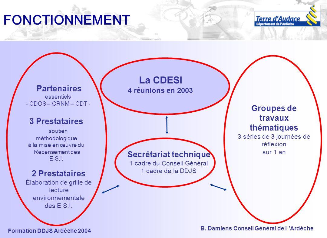 Formation DDJS Ardèche 2004 B. Damiens Conseil Général de l 'Ardèche Une démarche concertée et participative Plutôt qu'une proposition départementale