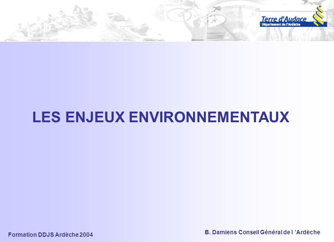 Formation DDJS Ardèche 2004 B. Damiens Conseil Général de l 'Ardèche SIG Système de consultation Système de Gestion Cartographique Localisation et ide